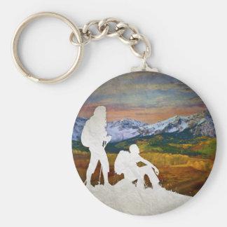 Autumn hike key ring
