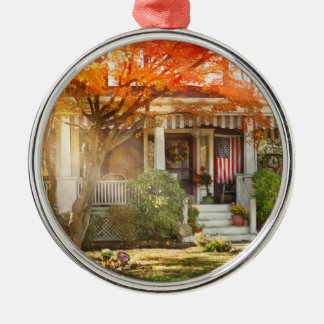 Autumn - Home is where your story begins Metal Ornament