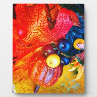 autumn impression plaque