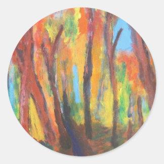 Autumn Impressionism Forest  Stickers