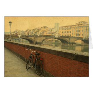 Autumn in Florence, vintage Card