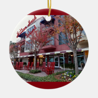 Autumn in Hilton Head Island - Harbour Town Shops Ceramic Ornament