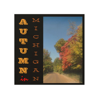 Autumn in Michigan wood canvas