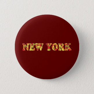 Autumn in New York 6 Cm Round Badge