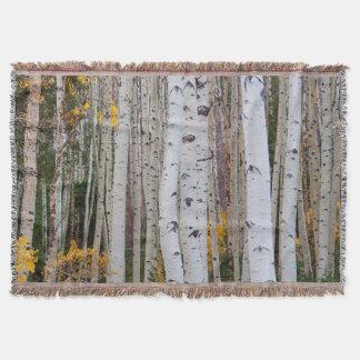 Autumn in the Aspen's Throw Blanket