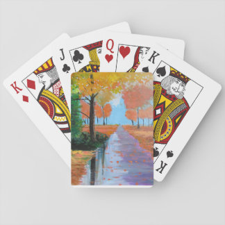 Autumn in the Park Poker Deck