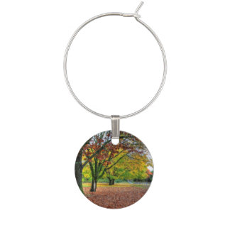 Autumn in the Park Wine Charm