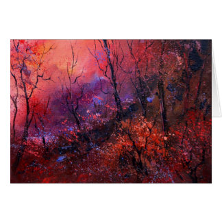 Autumn in the wood greeting card
