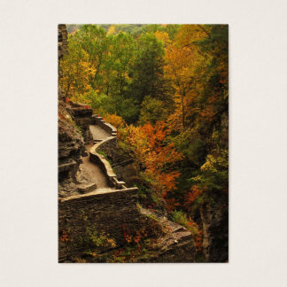 Autumn in Treman State Park Business Card