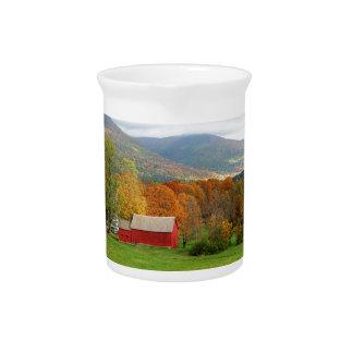 Autumn in Vermont Beverage Pitcher