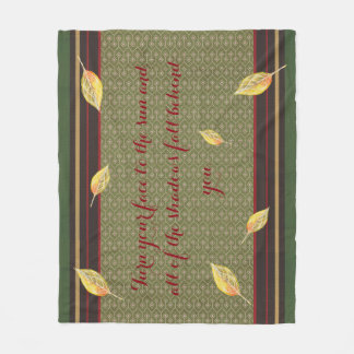 Autumn Inspired Quote Fleece Blanket
