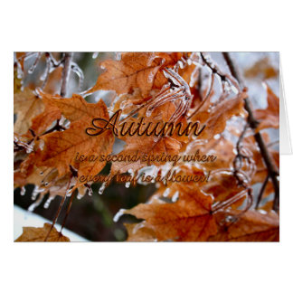 Autumn is a second spring card