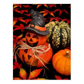 Autumn Jack-O-Lantern Postcard