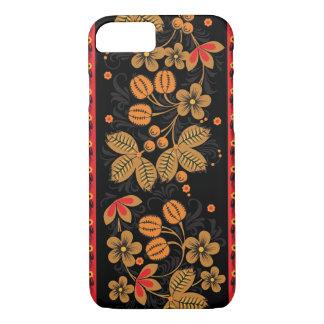 Autumn Khokhloma on Black iPhone 7 Case