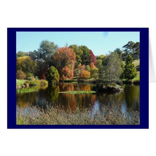 Autumn Lake Blank Card