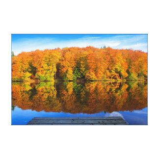 Autumn lake. canvas print