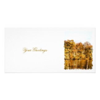 AUTUMN LAKE PICTURE CARD