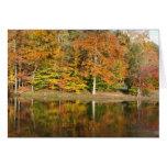 Autumn Lake Reflections Card