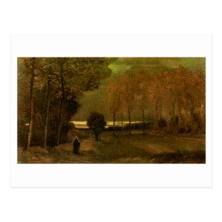 Autumn Landscape at Dusk, Vincent van Gogh Postcard
