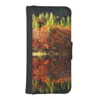 Autumn landscape on a lake