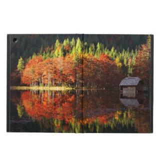 Autumn landscape on a lake iPad air cover