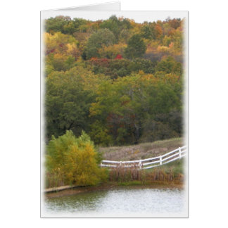 Autumn Landscape Photograph Card