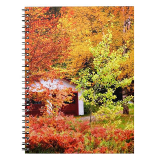 Autumn Landscape Spiral Notebook
