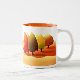 Autumn Landscape. Thanksgiving Gift Mugs