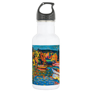 Autumn Landscape with Boats by Wassily Kandinsky 532 Ml Water Bottle