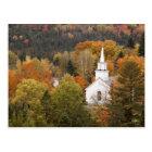 Autumn landscape with church, Vermont, USA Postcard
