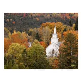 Autumn landscape with church, Vermont, USA Postcard