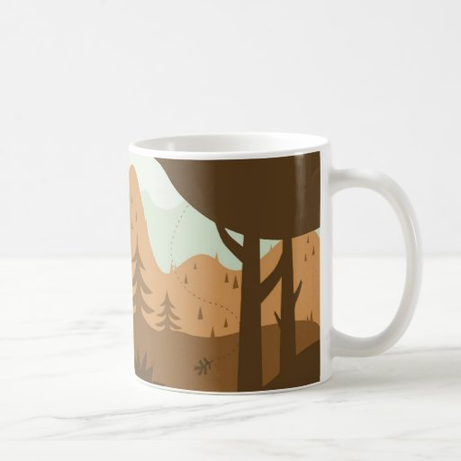 Autumn Landscape with Deer Coffee Mug