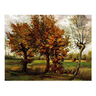 Autumn Landscape with Four Trees by van Gogh Postcard