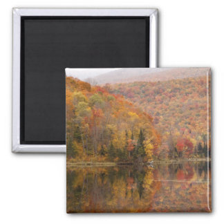 Autumn landscape with lake, Vermont, USA 2 Magnet