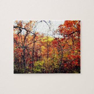 Autumn Landscape with Oak Trees Photograph Puzzle