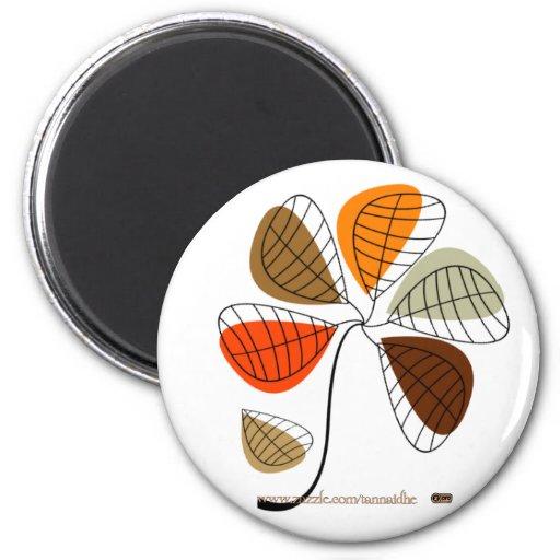 Autumn Leaf Abstract Fridge Magnet