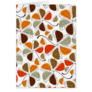 Autumn Leaf Abstract Note Card