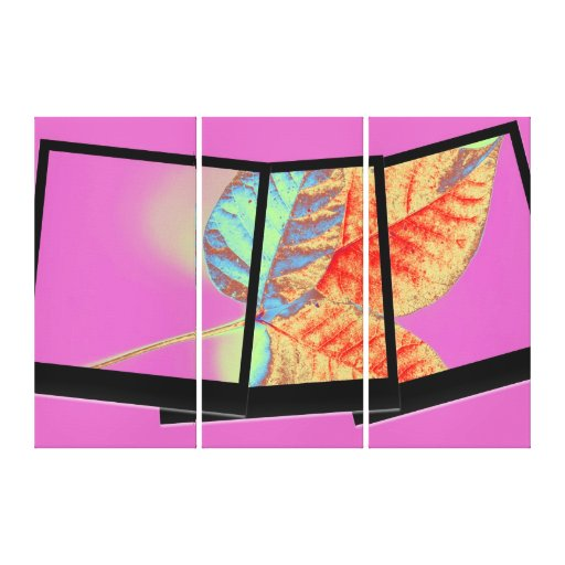 Autumn leaf art gallery wrapped canvas