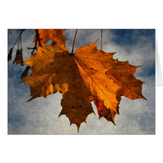 Autumn Leaf Artwork Greeting Card