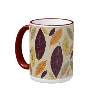 Autumn Leaf Assortment Large Ringer Mug