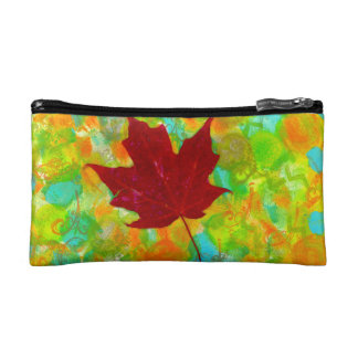 Autumn Leaf Cosmetic Bags