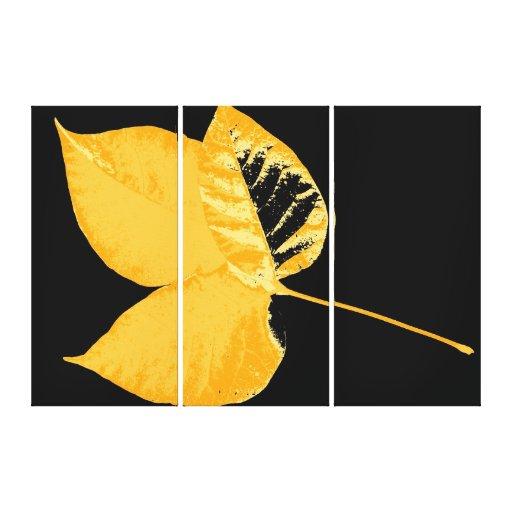 Autumn leaf stretched canvas prints