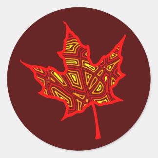 Autumn Leaf Classic Round Sticker