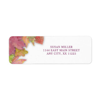Autumn Leaf Fall return address label 3973