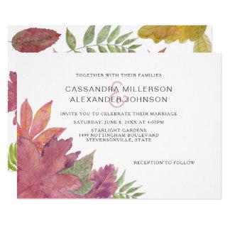 Autumn Leaf Fall wedding invite 3973