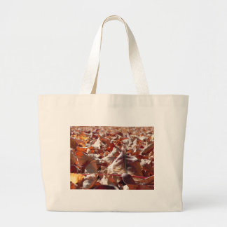 Autumn leaf in the fall large tote bag