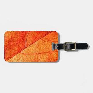 Autumn Leaf Luggage Tag