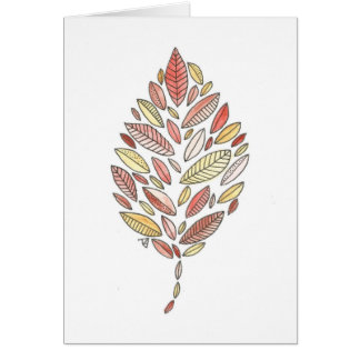Autumn Leaf Notecard