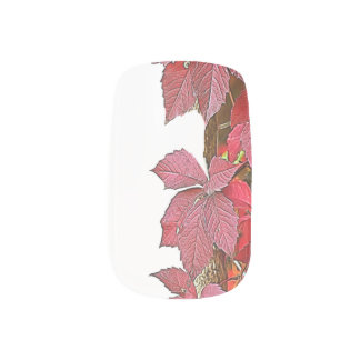 autumn leaf on tree minx nail art