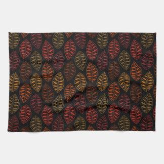 Autumn Leaf Pattern Tea Towel